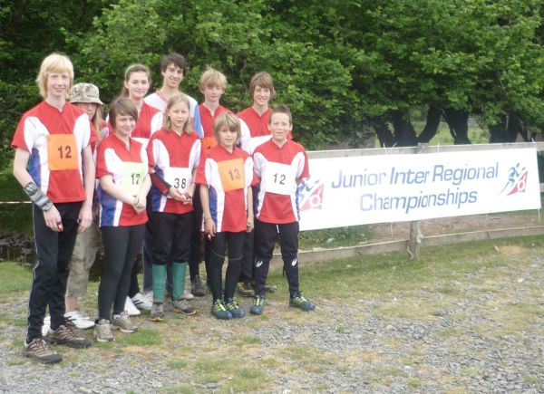 The Junior Squad at the 2010 Junior Inter Regional Championships in Wales.